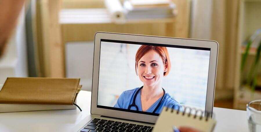 doctor on a video chat