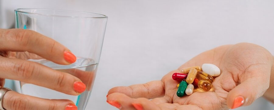 Vitamin and mineral supplements.